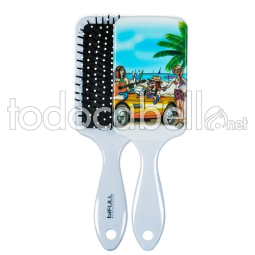 Bifull Paddle Brush Top Beauty Pearl Gray