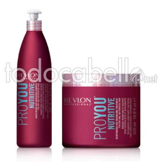Revlon Pack ProYou NUTRITIVE Shampooing 350 ml + Masque 500ml