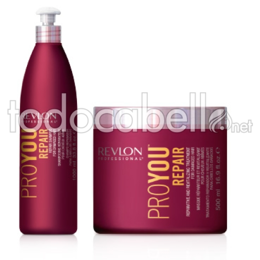 Revlon Pack ProYou REPAIR Shampooing 350 ml + Masque 500ml