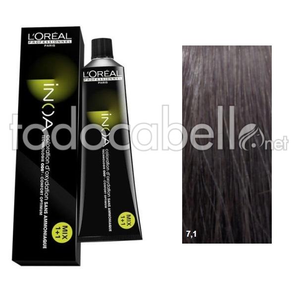 Loréal Inoa 71 Ash Blonde 60g Ammoniac